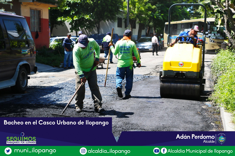 Bacheo en Casco Urbano de Ilopango