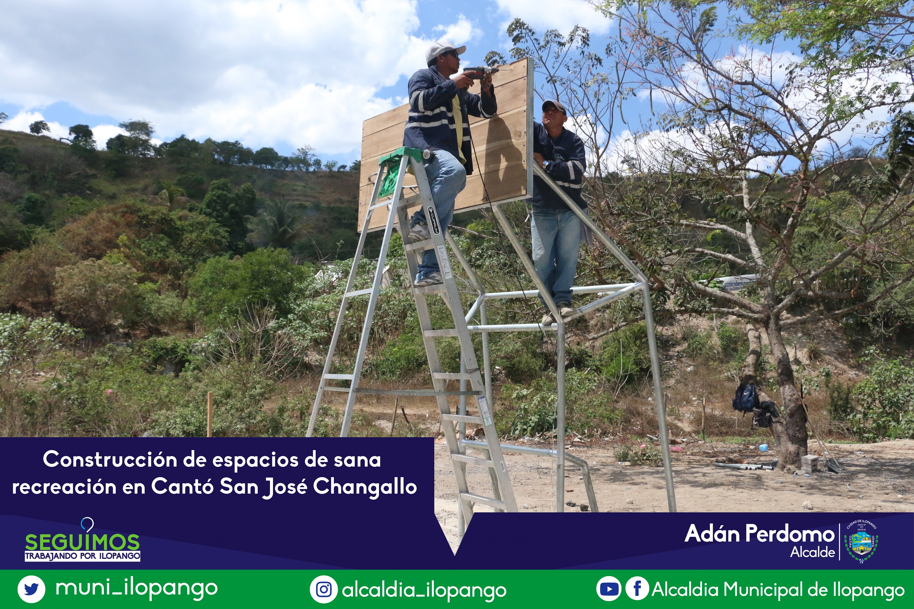 Construccion de zona de recreacion en changallo
