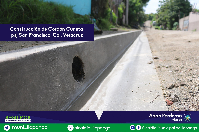 Cordon Cuneta en Col. Veracruz