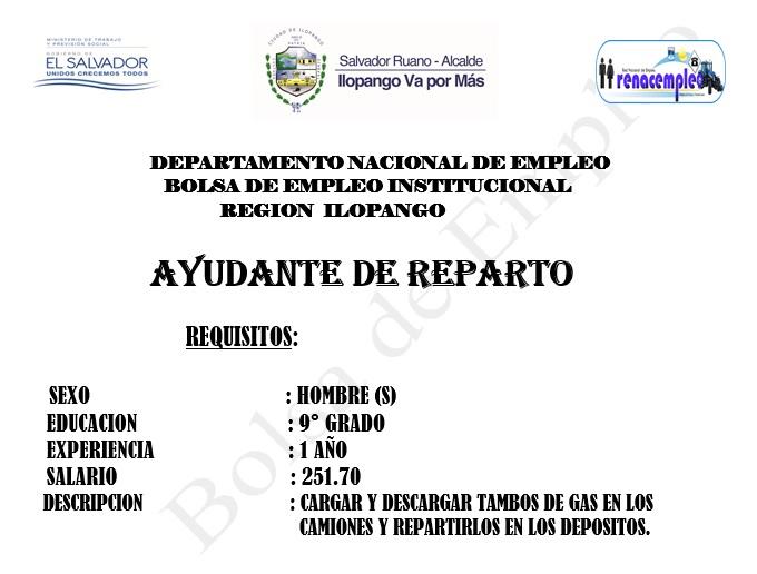 Bolsa de empleo alcaldia municipal de ilopango - Busco trabajo de ayudante de cocina ...